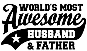 World's Most Awesome Husband and Father t-shirt