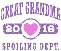 Great Grandma 2016 t-shirt