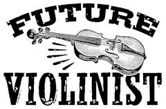 Future Violinist t-shirts