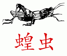 Grasshopper (Chinese) t-shirts