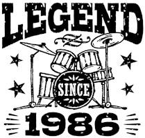 Legend Since 1986 t-shirts