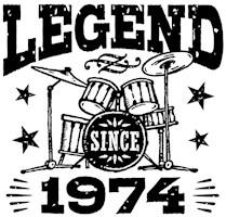 Legend Since 1974 t-shirts