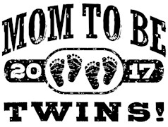 Mom To Be Twins 2017 t-shirts
