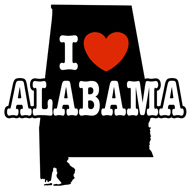 I Love Alabama t-shirts