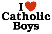 I Love Catholic Boys t-shirts