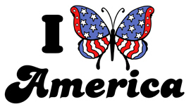 I Love America (Butterfly) t-shirt