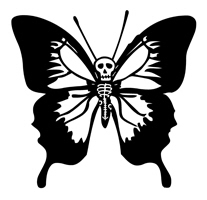 Butterfly Skull t-shirt