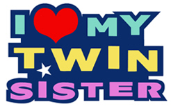I Love My Twin Sister t-shirts