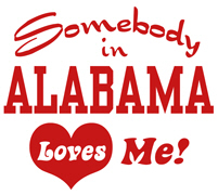 Somebody in Alabama Loves Me t-shirt