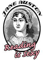 Jane Austen Reading is Sexy t-shirt