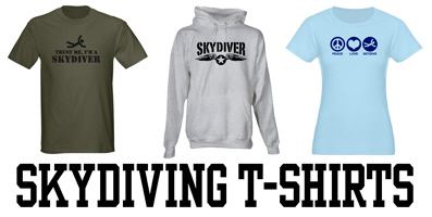 Skydiving t-shirts and gifts