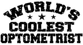 World's Coolest Optometrist t-shirts