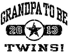 Grandpa To Be Twins 2013 t-shirt