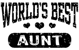 World's Best Aunt t-shirts