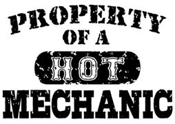 Property of a Hot Mechanic t-shirts