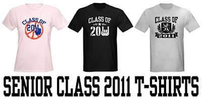 Senior Class 2011 t-shirts