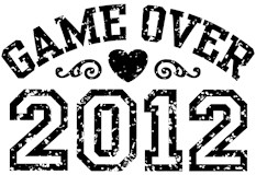 Game Over 2012 t-shirts