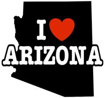 I Love Arizona t-shirts