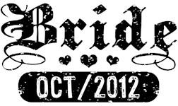 Bride October 2012 t-shirts