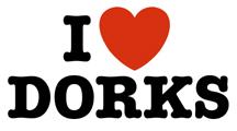 I Love Dorks t-shirts