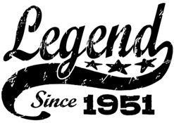 Legend Since 1951 t-shirt