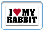 Rabbit Stickers: Various designs and sizes
