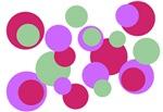 Aqua Pink Lavender Dots