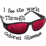R45 (rose) colored glasses