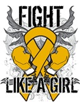 Appendix Cancer Ultra Fight Like a Girl Shirts