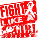 AIDS Burnout Fight Like a Girl Shirts