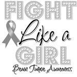 Fight Like a Girl Brain Tumor Shirts