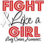 Lung Cancer Fight Like a Girl Shirts