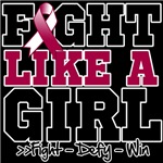 Throat Cancer Sporty Fight Like a Girl Shirts