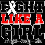 Lung Cancer Sporty Fight Like a Girl Shirts