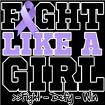 General Cancer Sporty Fight Like a Girl Shirts