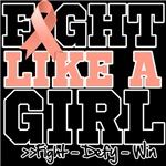 Endometrial Cancer Sporty Fight Like a Girl Shirts