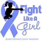 Stomach Cancer Fight Like A Girl Knockout Shirts