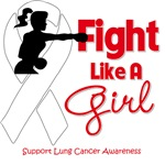 Lung Cancer Fight Like A Girl Knockout Shirts
