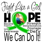 Cerebral Palsy Hope Fight Like a Girl Shirts