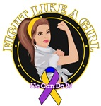 Bladder Cancer Fight Like A Girl Rosie Shirts