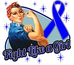 Rosie Riveter Fight Like a Girl Rectal Cancer