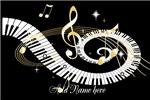 random Mixed Musical Notes (Black gold)