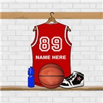 Personalized Basketball Jersey Red