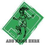 Personalized  Soccer girl design