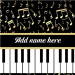 Personalized Golden Musical notes