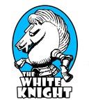 White Knight Logo Sky Blue