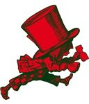 Mad Hatter Striding Red Green