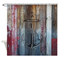 Coastal, Vintage and Modern Rustic Shower Curtains