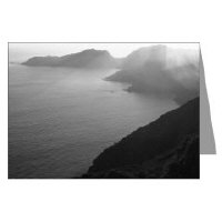 California Black + White Coastal Greeting Cards