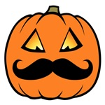 Mustache Pumpkin